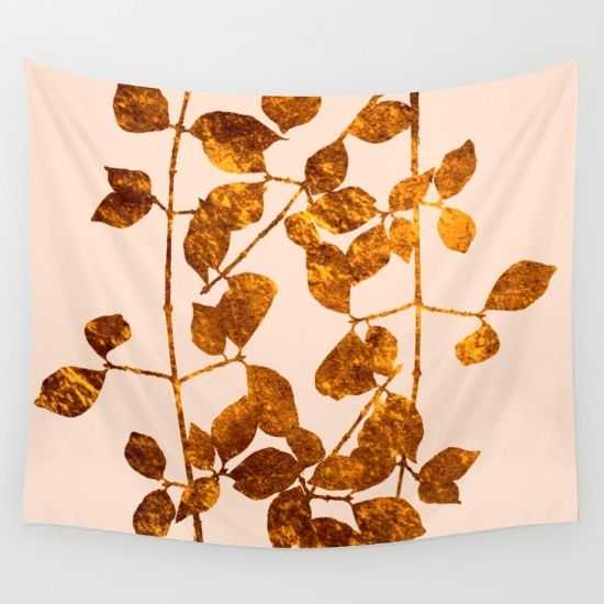 fall golden leaves Wall Tapestry