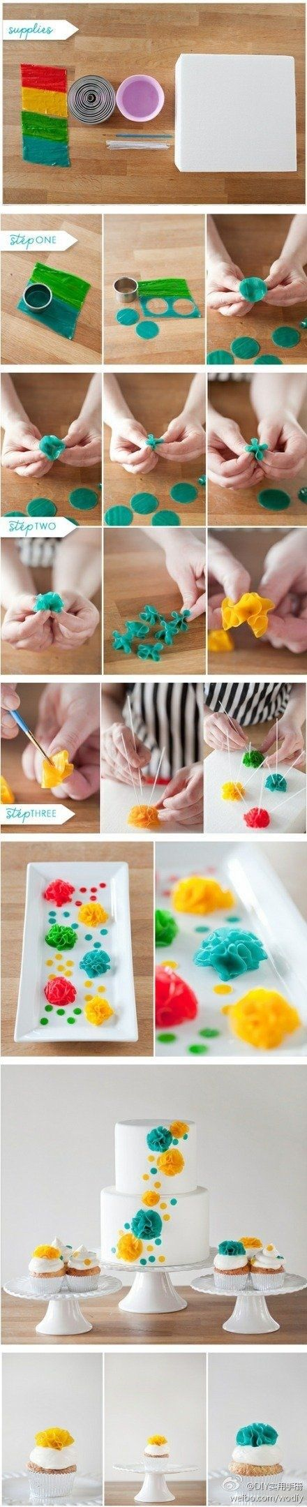 DIY Fruit Roll Up Flowers! |Cake Decorations|