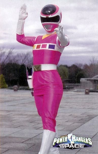 Power Rangers In Space Psycho Yellow Pris pink space ranger