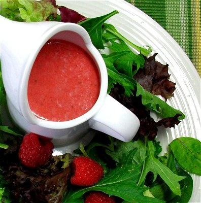 Aderezo de frambuesa para ensalada verde / Raspberry salad dressing