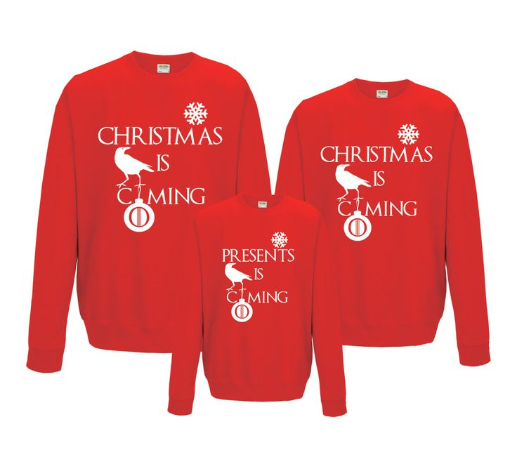 Game of Thrones Family funny Christmas sweatshirts, Christmas jumpers set. by iganiDesign on Etsy