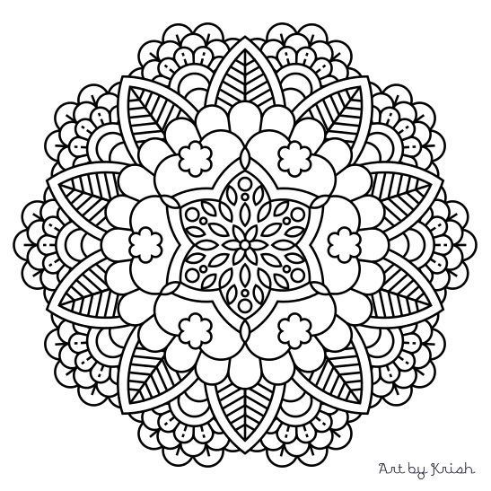 mandala adult coloring page 37