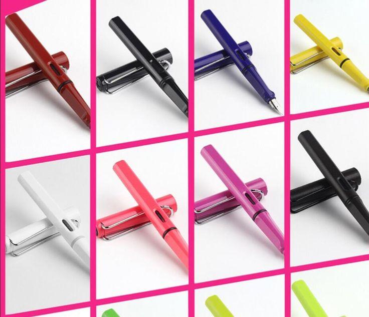 13 Colori caso Safari Lamy Penna Stilografica con confezione regalo Penne Caneta-Tinteiro Canetas Penna Stilografica Nero/Blu/rosso/Verde/Vista colore