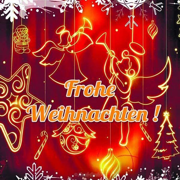 Картинках открытки, рождественская открытка на немецком языке