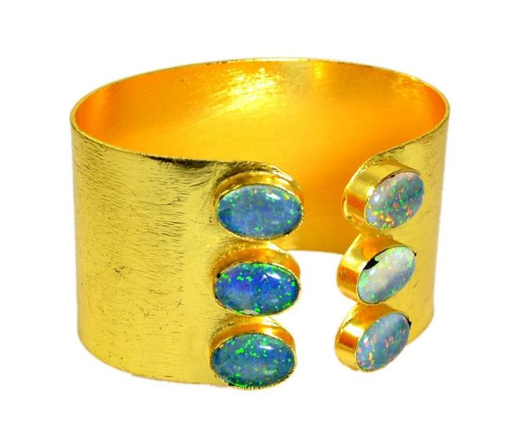 A Handmade Fire Opal Gemstone 925 Silver Plated Bracelet / Bangle DB013 #krishnagemsnjewels #Bangle