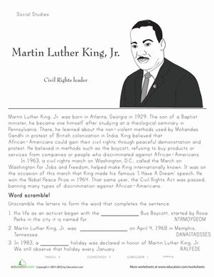 Worksheets Second Grade History Worksheets 148 best images about second grade on pinterest comprehension black history month martin luther king worksheets jr