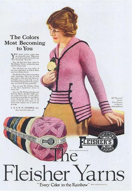 Fleisher Yarns, 1919, ad, vintage