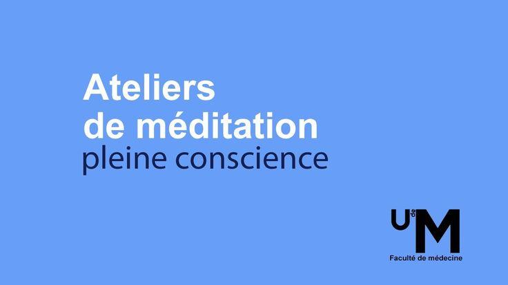 Atelier 1 - Méditation pleine conscience par Hugues Cormier