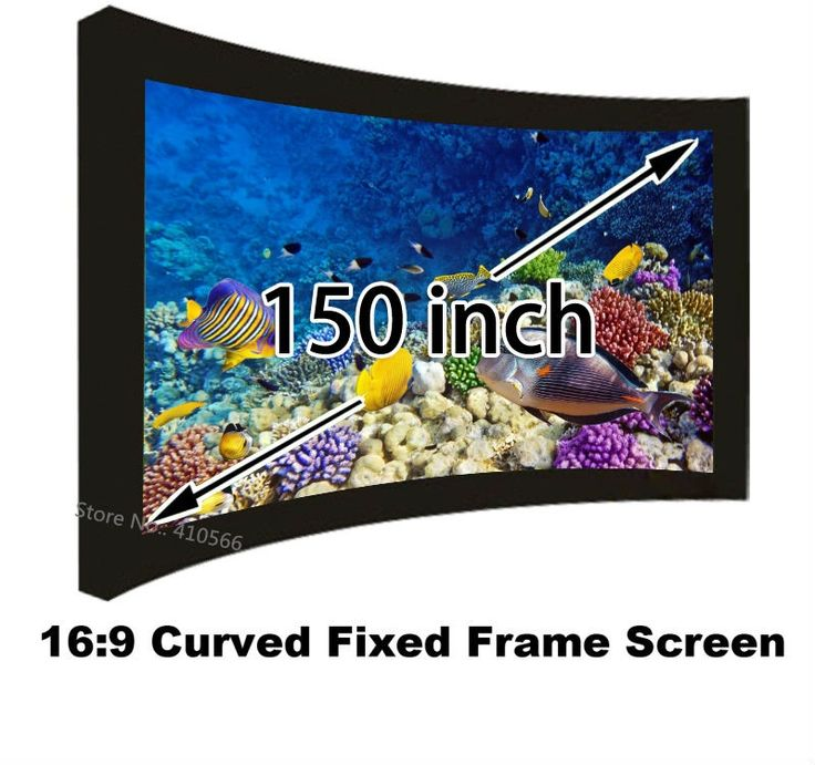 """495.71$  Watch now - http://alillt.worldwells.pw/go.php?t=32649404315 - """"Wholesale Low Cost Arc Fixed Frame 16:9 Projection Screen 150"""""""" Diagonal Support 3D 4K Projector Screens For Sale"""""""