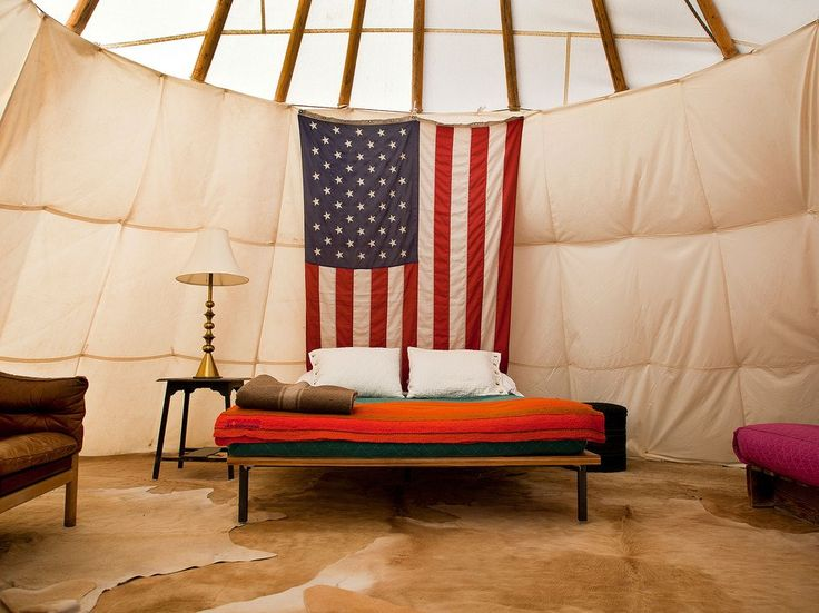 Ok, this is technically a teepee, but what El Cosmico's 18-acre trailer, tent, and teepee hotel lacks in amenities it makes up for in charm and Texas hospitality.