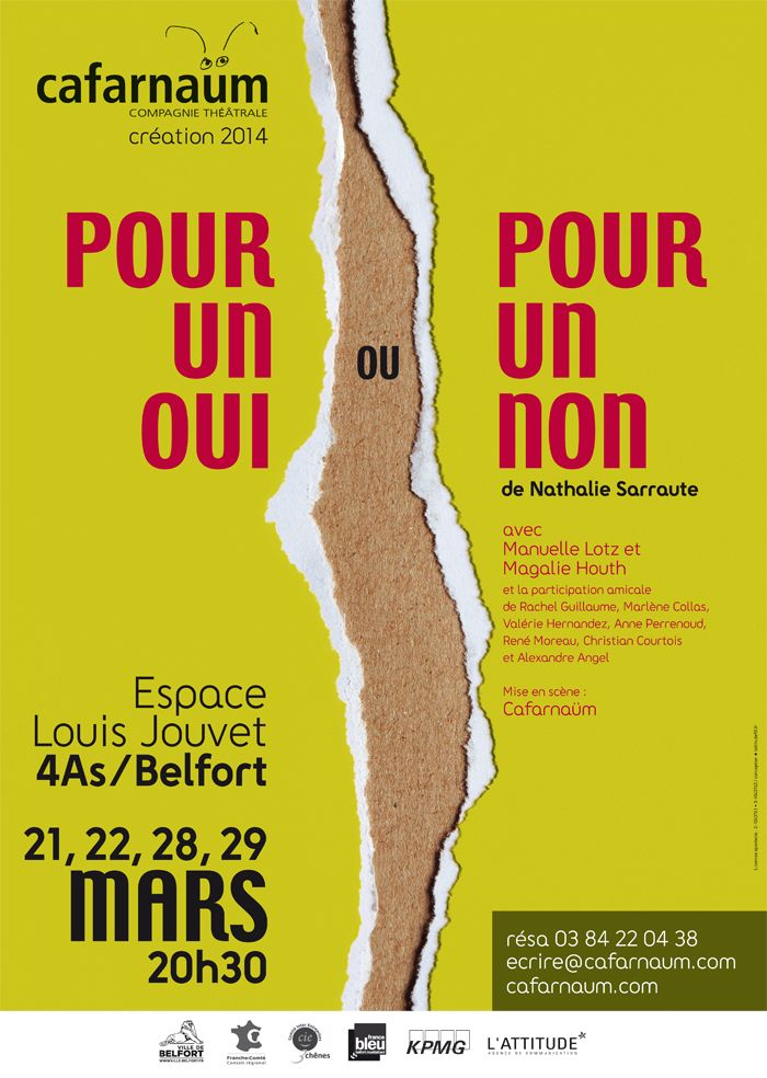 Cafarnaüm - Belfort  Nouvelle création pour la compagnie théâtrale Cafarnaüm - Belfort. Affiche réalisée par l'agence