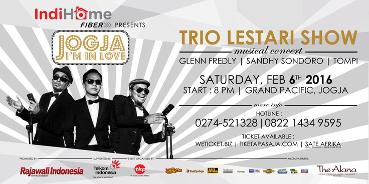 "Sponsor for TRIO LESTARI "" JOGJA, I'M IN LOVE "" on 5-7 February 2016"