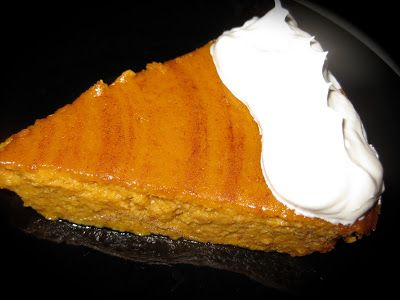 The Lonely Baker: Crustless, Low Calorie Pumpkin Pie