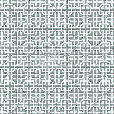 Papier peint Motif arabe monochromatique
