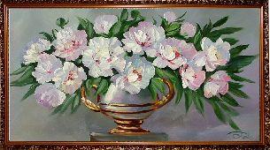 Розовые пионы - Цветы <- Картины маслом <- Картины - Каталог | Универсальный интернет-магазин подарков и сувениров