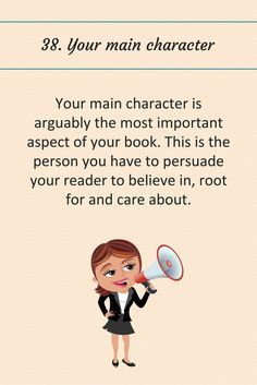 Writing Tip 38: Your main character.