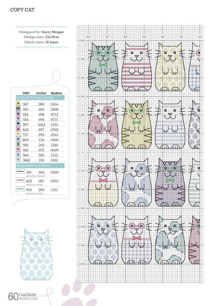 Cross-stitch Copy Cats, part 1.. with the color chart... 4450chM15_60.jpg