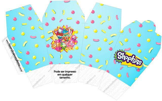 Shopkins: Cajas para Imprimir Gratis.