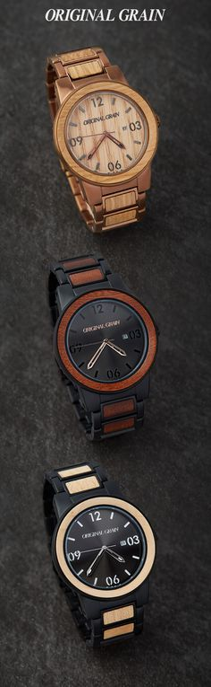 Made with the finest exotic hardwoods in the world, Original Grain watches are handcrafted with quality in mind. Timeless design and original style. Free Shipping Worldwide!