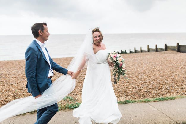 Windy Whitstable wedding at the Beacon House