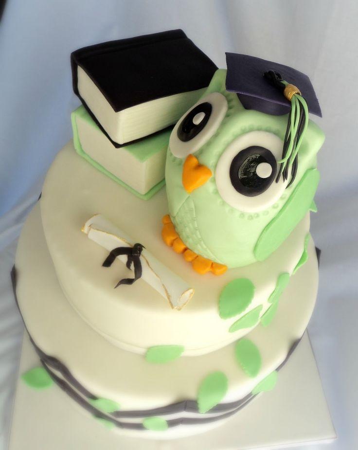 Owl Graduation Cake   Cute Owl Graduation Cake