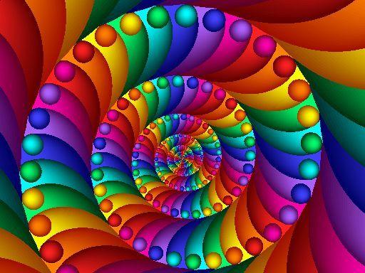 Rainbow Fractal | Fractal | RAINBOW OF COLORS | Pinterest