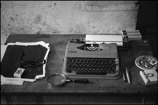 William Burroughs' typewriter at the Beat Hotel in Paris