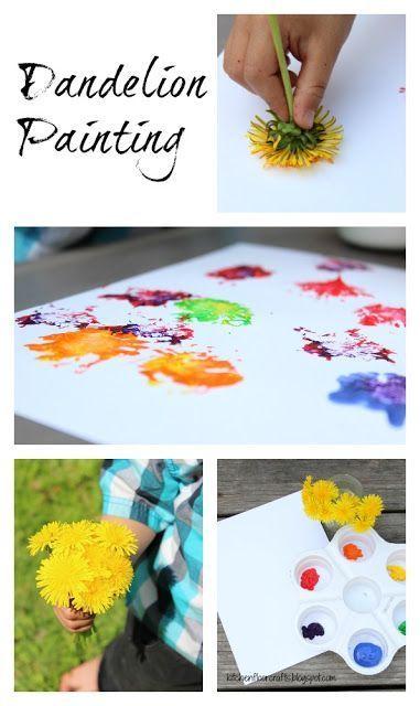 Kitchen Floor Crafts: Dandelion Painting