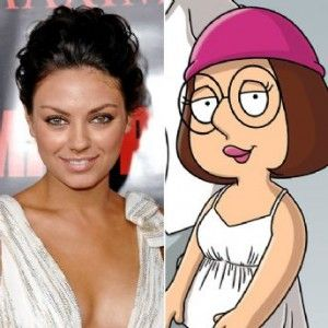 Pretty Meg From Family Guy | Mila Kunis and Her Half Sister Meg Griffin