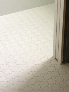 Dailtile Octagon And Dot Matte White Floor Tile With Laticrete