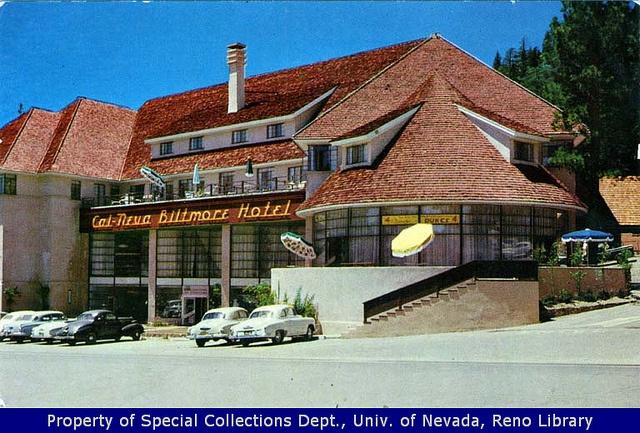 Cal-Neva Tahoe Biltmore Hotel, Lake Tahoe taken in 1951