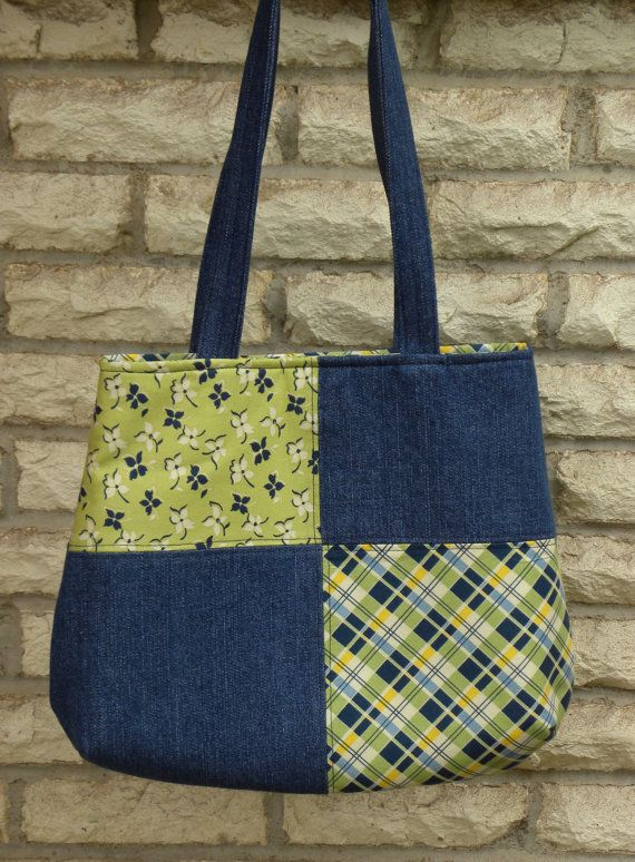 Patchwork Tote Bag by DakotaMaid on Etsy