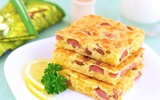 Пирог с сыром и сосисками - Kurkuma project (Проект Куркума) Пирог вкуснее всего в теплом виде, хотя и в холодном он тоже очень неплох.