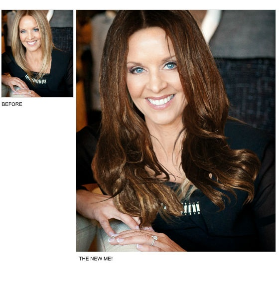 Always wondered what I'd look like as a brunette. I just did an amazing Virtual Makeover at @DailyMakeover. Check it out!
