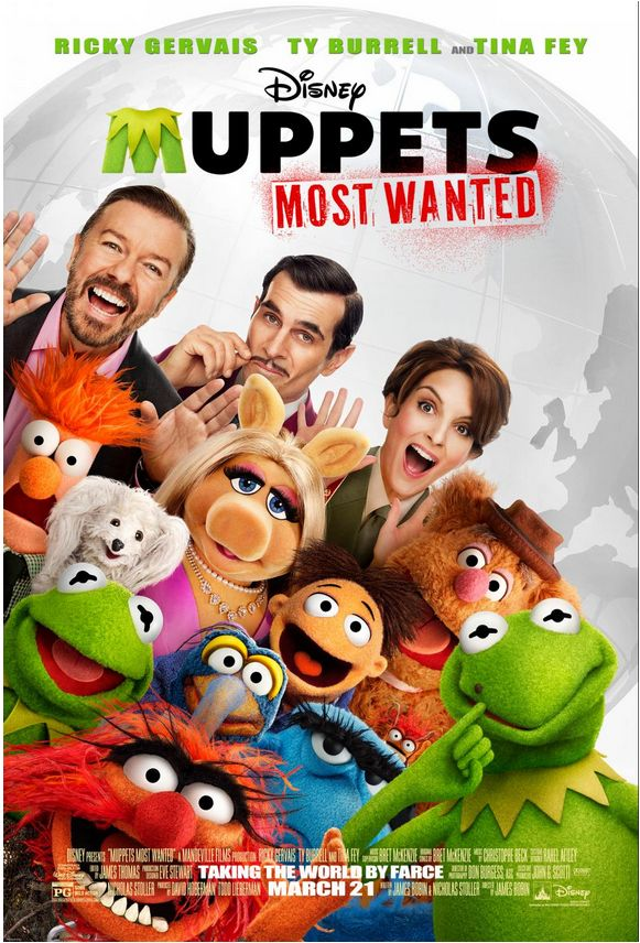 Muppets Most Wanted coming to theaters on March 21 2014!
