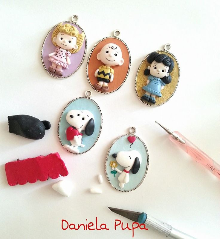 snoopy, charlie brown and friends by Daniela Pupa Kawaii Jewels
