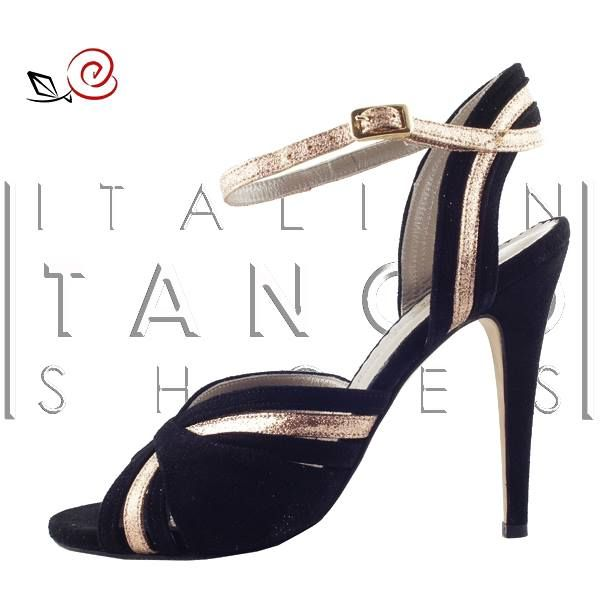 Great deal! Giulia, black suede and gold glitter fabric, size 39! Special price and immediate delivery! #OUTLET http://www.italiantangoshoes.com/shop/en/outlet/276-giulia.html