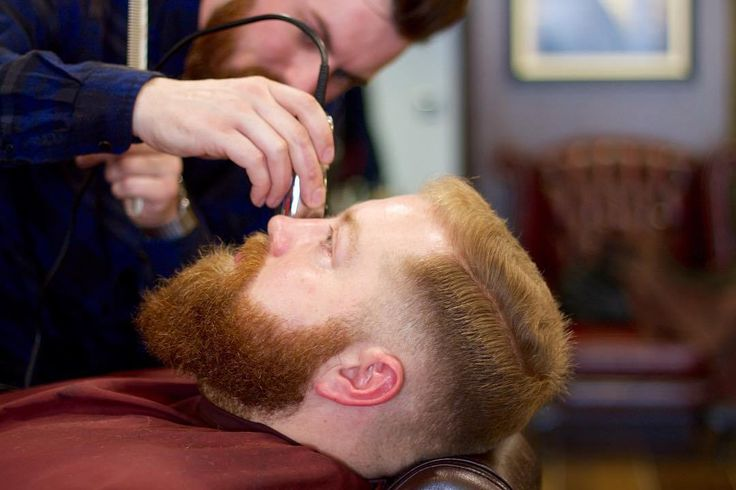 Men Parted Haircuts With Red Hair + Red Beard