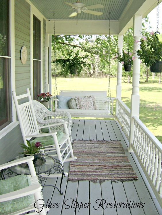 Check out this stunning 1900 Victorian Farmhouse front porch transformation via glassslipperrestorations.com: