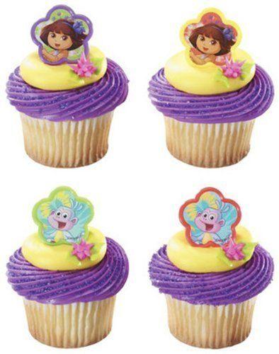 Dora de Explorer Cupcake ringen verjaardag bruiloft Set van 12