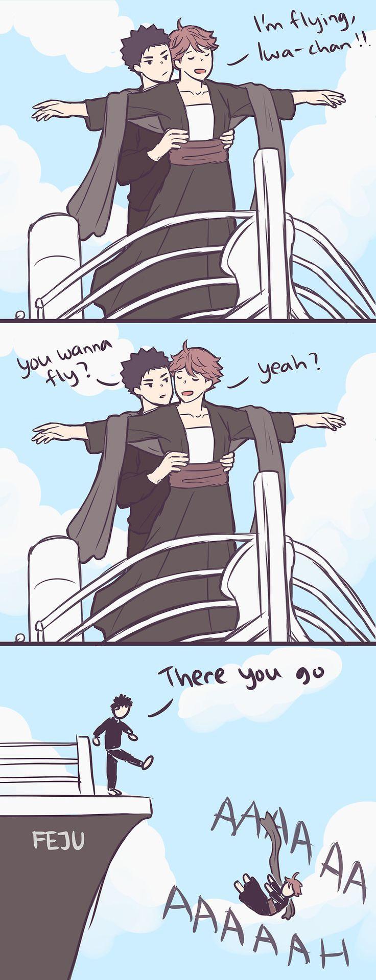 iwaoi iwaizumi hajime oikawa tooru iwaizumi x oikawa haikyuu haikyuu!! titanic iwaoi my art fejufej.tumblr.com