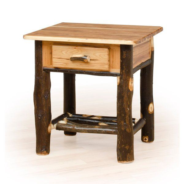 Rustic Hickory Oak Nightstand Amish Made Usa Rustic Hickory Oak Nightstand Brown Size 1