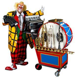 Muzikale Clown Teddy Klarinetti. Mobiel entertainment met vele instrumenten, goochelen en ballonnen vouwen. http://www.funenpartymatch.nl/teddyklarinetti.php