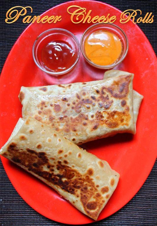 YUMMY TUMMY: Paneer Cheese Wraps Recipe / Paneer Cheese Rolls Recipe