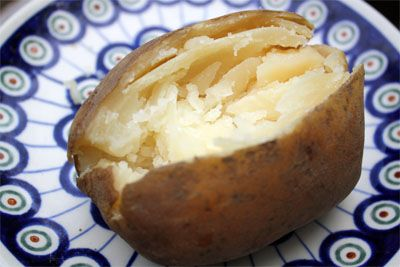 So easy....Just wrap potatoes in aluminum foil and place them in a Crock-Pot. Cook them on low for about 8 hours, and when you come back home from work, they will be done! It's also an easy way to bring baked potatoes to a holiday potluck party.