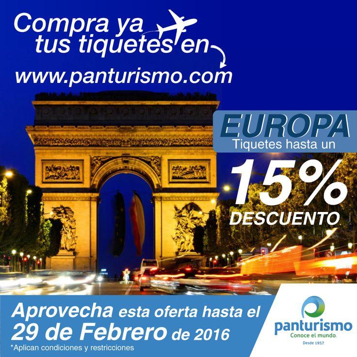 EUROPA Aprovecha! Hasta el 15% de descuento. www.panturismo.com