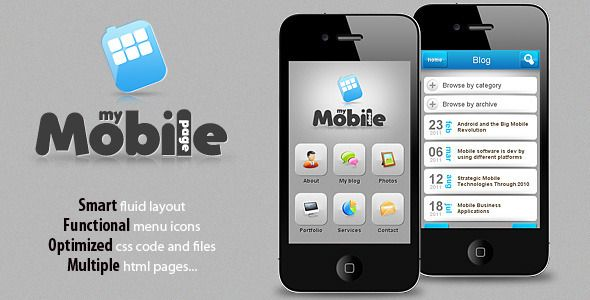 Site Templates - My Mobile Page V2 | ThemeForest