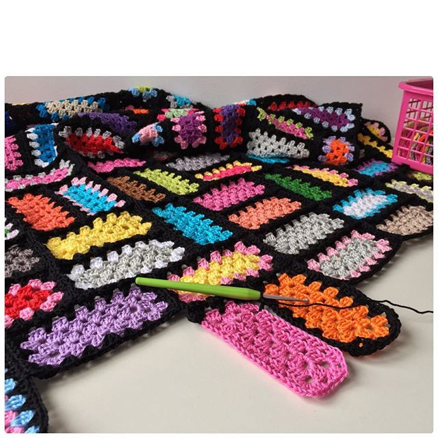 Inspiration marretjeroos neon crochet granny rectangles