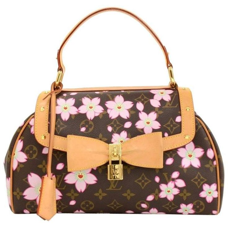 Louis Vuitton Sac Retro PM Cherry Blossom Monogram Canvas Murakami Hand Bag  | From a collection of rare vintage top-handle-bags at https://www.1stdibs.com/fashion/handbags-purses-bags/top-handle-bags/