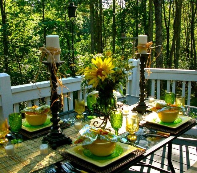 1000 images about table settings on pinterest outdoor Outdoor dinner table setting